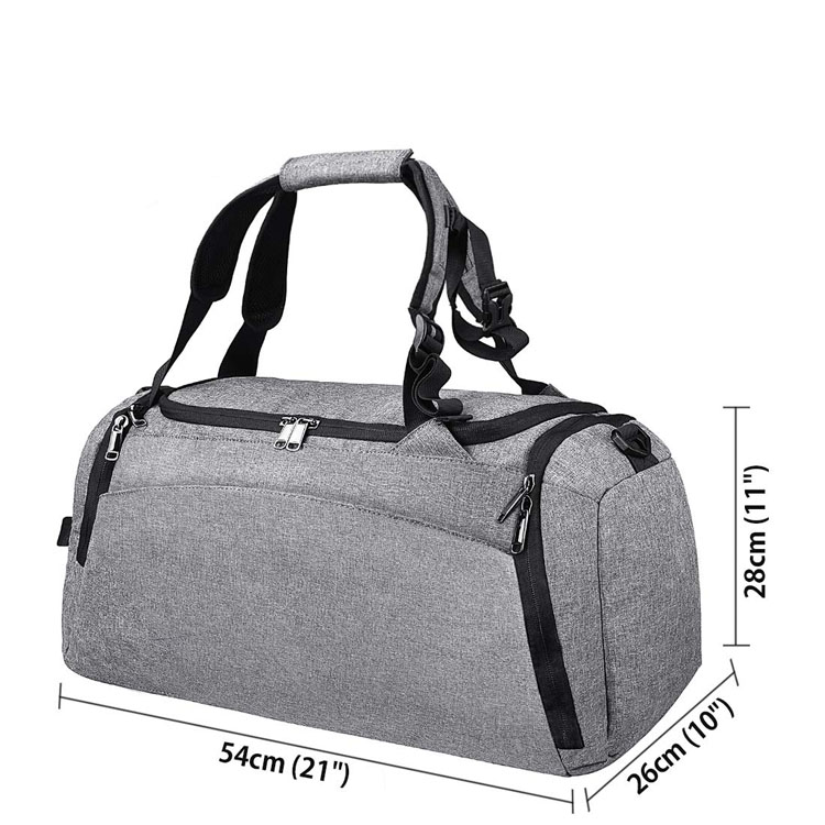 5be7daacf6 Waterproof Travel Sports Lightweight Luggage Weekender Bag Men Women Shoes  Compartment Overnight Extra Large Tote Gym