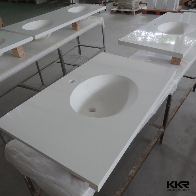 Modern Furniture Bath Vanity/white Sparkle Quartz Vanity Top