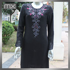 Silk Beaded Stones Embroidery Fabric Kaftan Moroccan Ladies Sexy Parties Dress