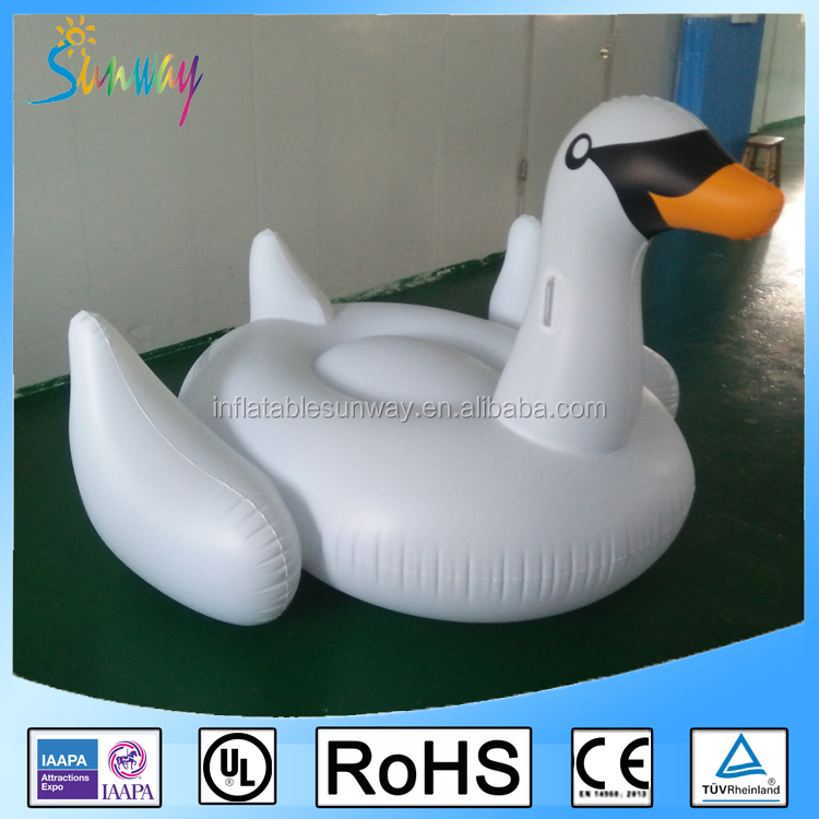 Custom Animal Water PVC Inflatable Floating Swan Toys For Swimming Pool