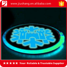 Custom ronde <span class=keywords><strong>magic</strong></span> led glow cup pad en coaster