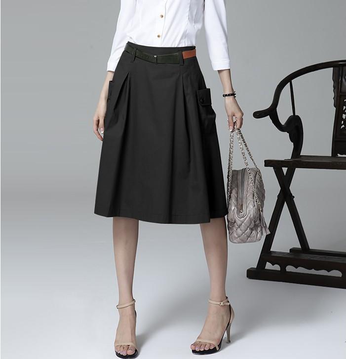 0ca27f420c A Line Skirt With Pockets - Redskirtz