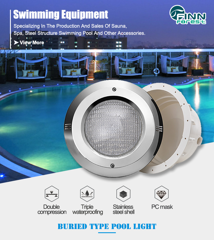 Factory Supply Colourful Stainless Steel Swimming Pool Led Light