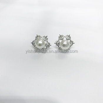 2017 New Wholesale Beautiful Styles Snowflake Shape 925 Sterling Pendant parts for Pearls Accessories Hot Sales