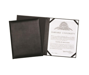A4 Leather Menu Holder or Wine list Diploma Cover Holds Certificate Folder with Clear Protective Cover