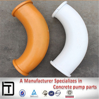 Twin-wall wear-resisting pipe elbow,concrete pump parts, Steel pipe fitting elbow