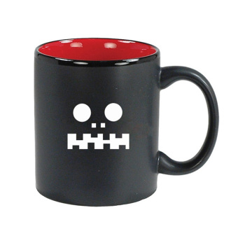 printing customized black and red ceramic mug for Halloween