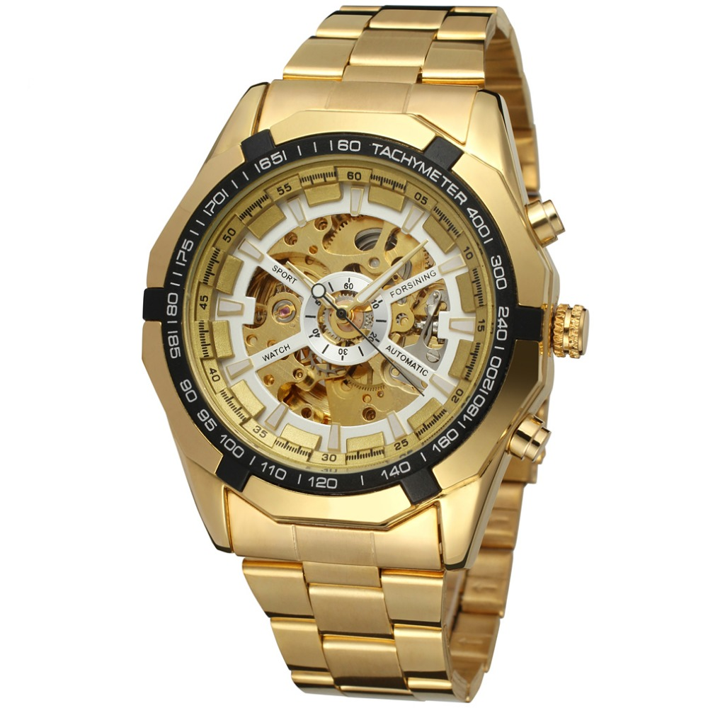 Hot Sale Watch Men Fashion Relogio Masculino Automatic Mechanical gold skeleton vintage watch 2017 Mens Watch Top Brand Luxury