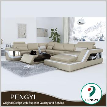 Moderne U Form Beige Echtes Leder Sofa,C Form Großen Sofa Für Wohnzimmer  Py-h2203d - Buy Wohnzimmer Sofa,Beige Leder Sofa,C Form Sofa Product on ...