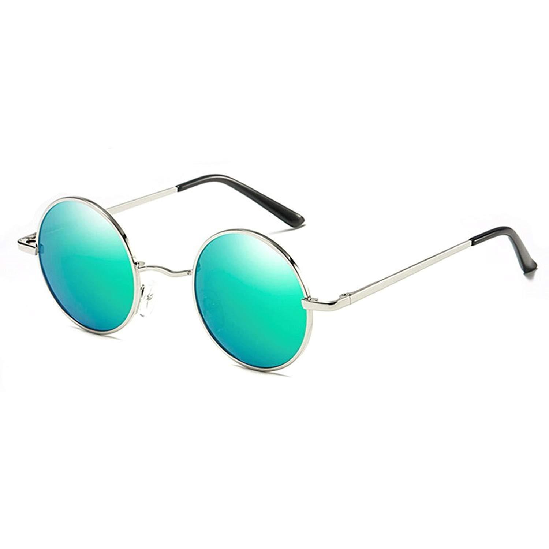 Retro Round John Lennon Polarized Sunglasses Small Metal Frame Hippie Sun Glasses