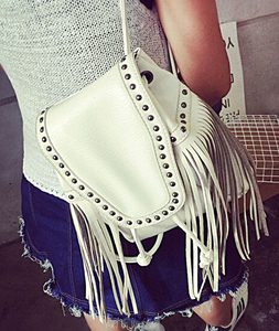 DY0024Z Europea fashion ladies pu leather tassels packbag fringe packbag