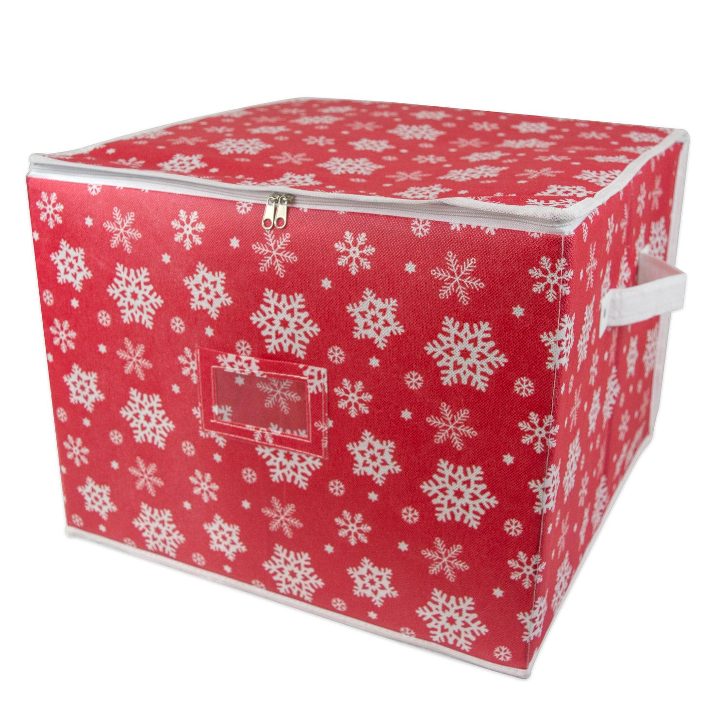 Ordinaire DII Holiday Ornament Storage Bin With Dividers U0026 Separators To Protect  Fragile Christmas Tree Decorations (