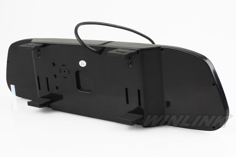Система помощи 4.3 дюймов TFT LCD автомобиля обратный зеркало заднего вида монитор + 4 из светодиодов огни ик автомобильная камера заднего вида
