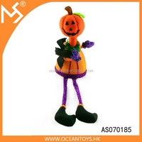 Halloween party promotion gift indoor decoration lovely baby witch pumpkin toy doll