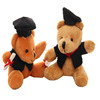 100% PP cotton stuffed plush brown graduation teddy bear toy with a book