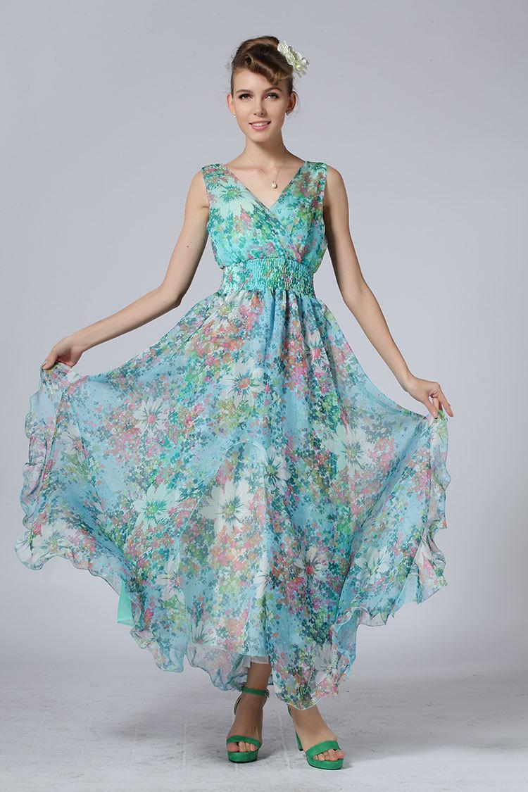 Bohemian-Big-Hem-Dress-Summer-2015-New-Plus-Size-Maxi ...