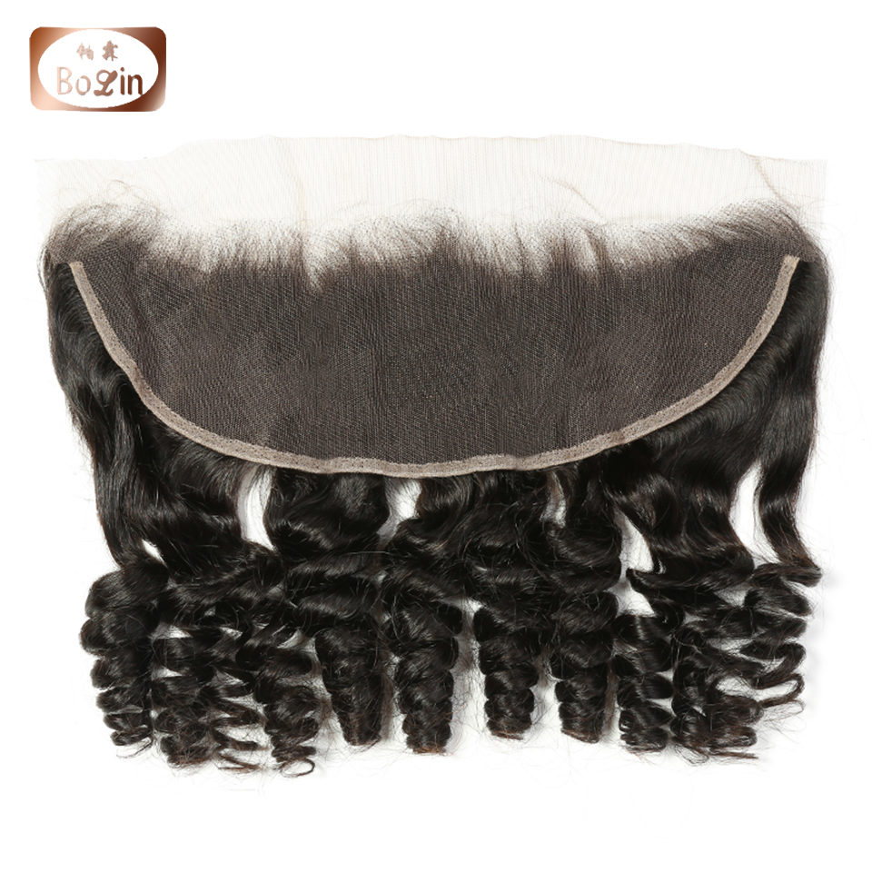 Raw Indian Human Hair Wet And Wavy Loose Wave Hair Non-Remy Hair Bundles With 13*4   Lace Frontal