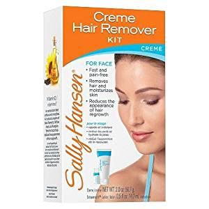 Sally Hansen Crème Hair Remover Kit - Helps Remove Facial Hair