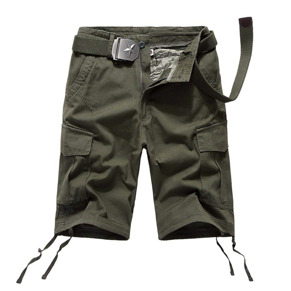 Topway Mens Combat Tactical Short Pant Casual Straight Leg Cargo Shorts Trousers