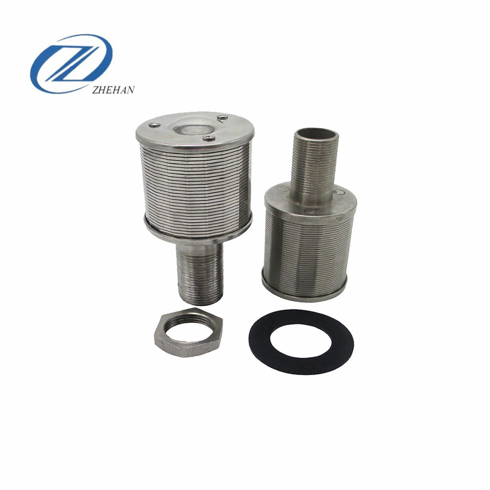 stainless steel wedge wire filter nozzles resin filter strainer water nozzle for the <strong>filtration</strong> of water