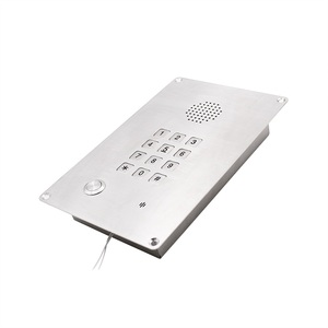 Top-rated IP65 Waterproof VoIP Clean Room Telephone with Metal Keypad, Oxidation Resistant SIP Intercom for Clean rooms