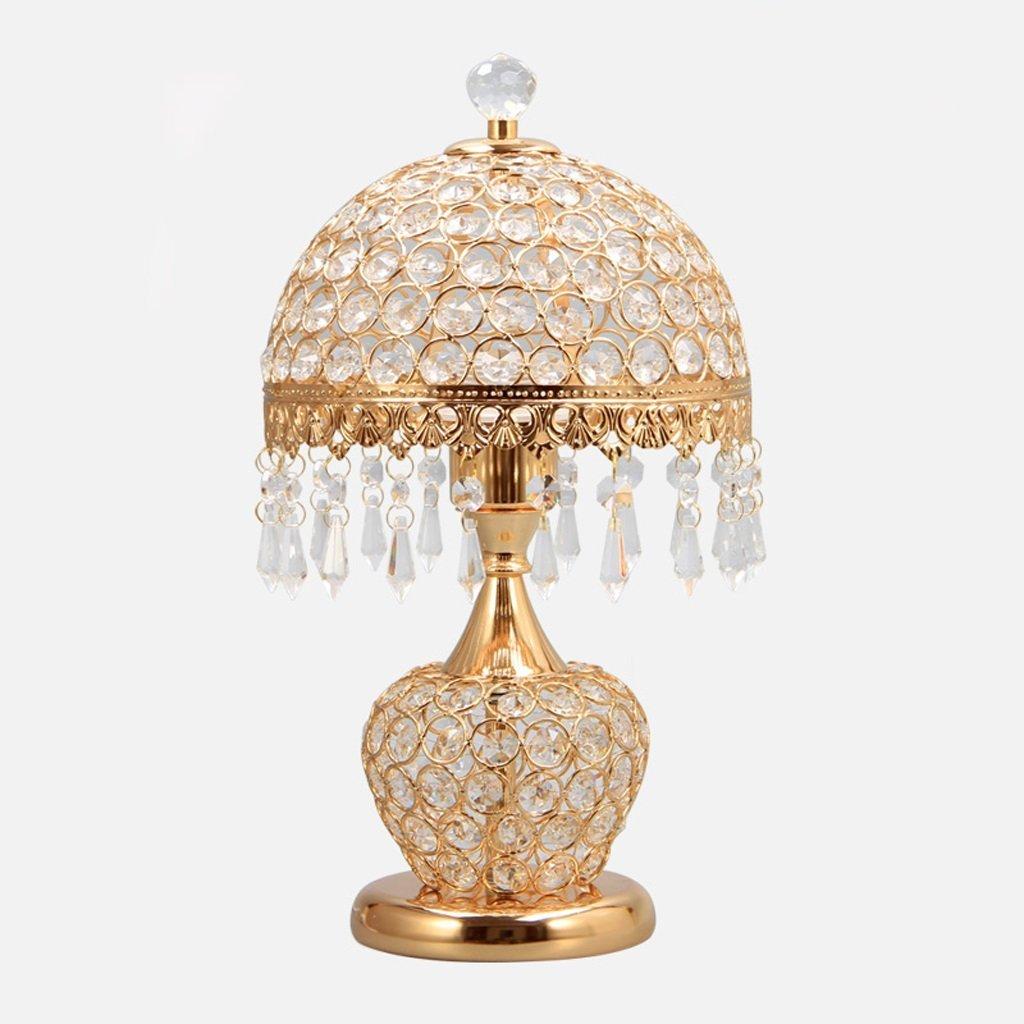WENBO HOME- Bedside Lamp Bed  European - Style Crystal Lamp Bedroom Bedside Lamp Modern Minimalist Living Room Decorative Creative Lamp -Desktop lamp