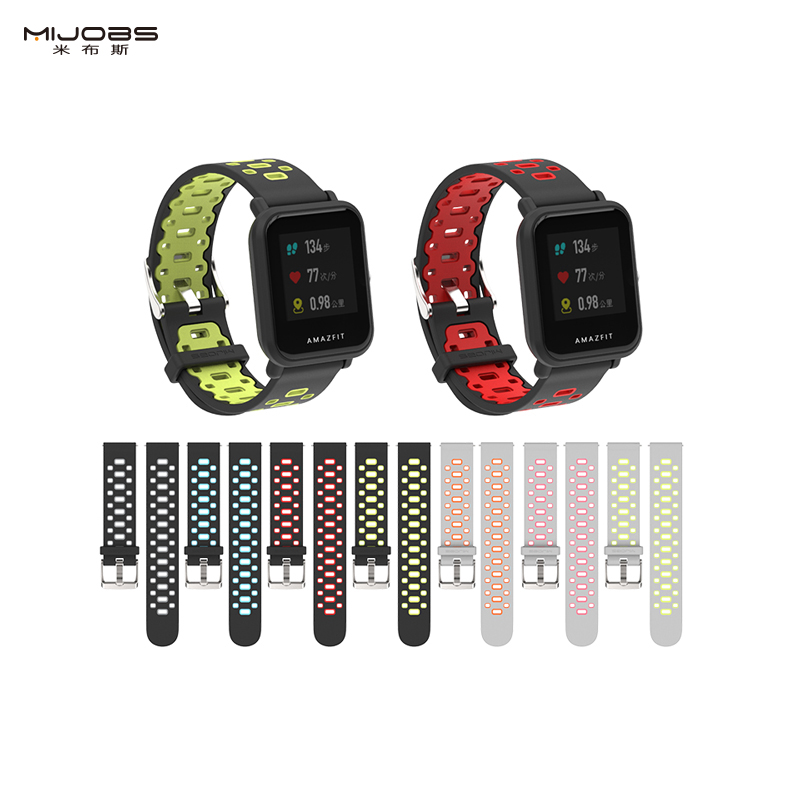 For Huami Amazfit bip 20mm Rubber Sport Smart Watch Band silicone replacement watch band Lite version фото