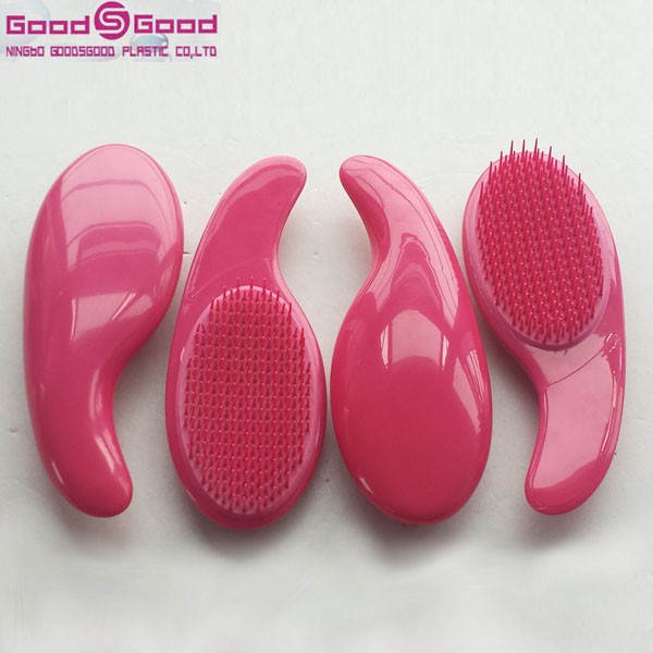 Hot selling 2015 Salon Plastic hair brush removable pad