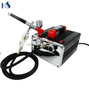HS-216K the mini airbrush compressor with airbrush