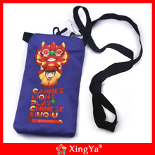 printed microfiber bags/pouches with drawstring for smartphone