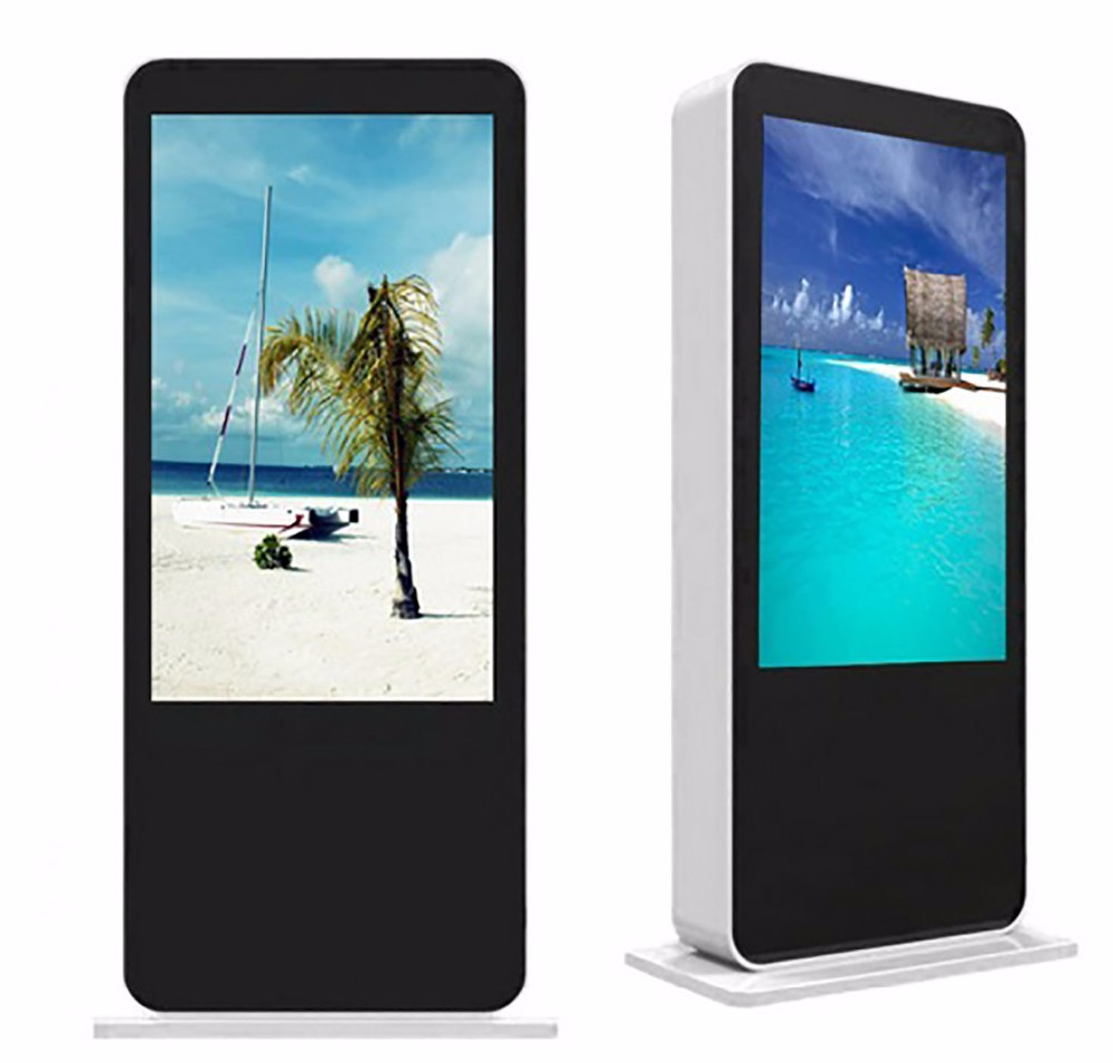 Digital high brightness outdoor touch kiosk totem screen display