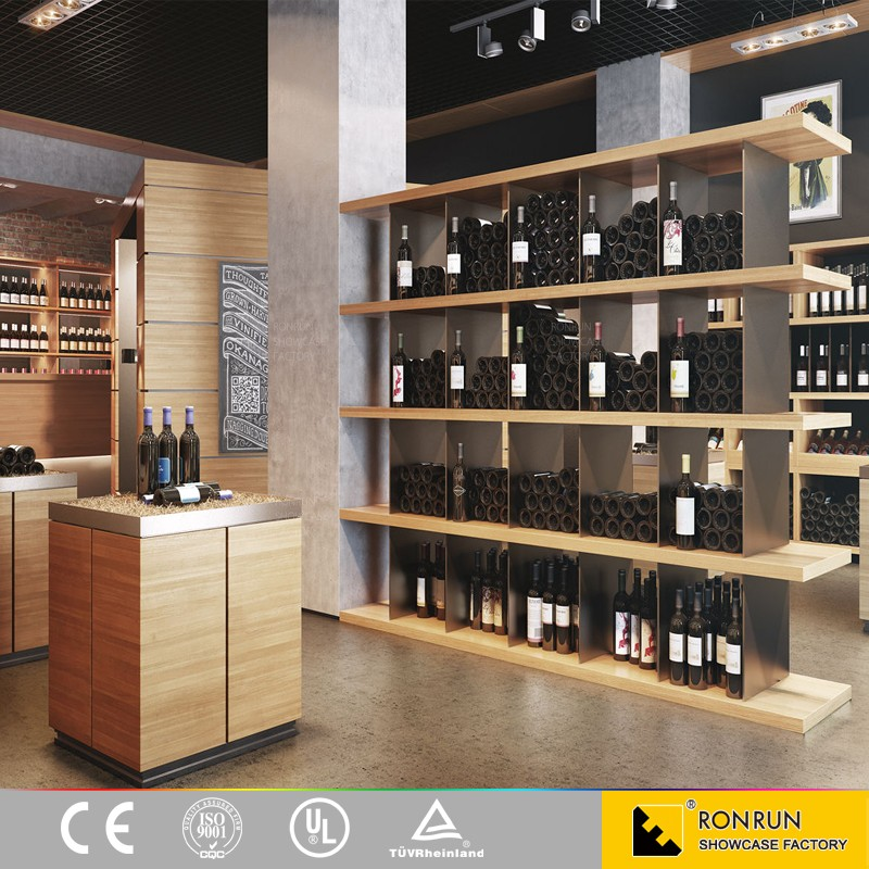 Modern fashion liquor store shelving suppliers with solid for Arredamento made in china