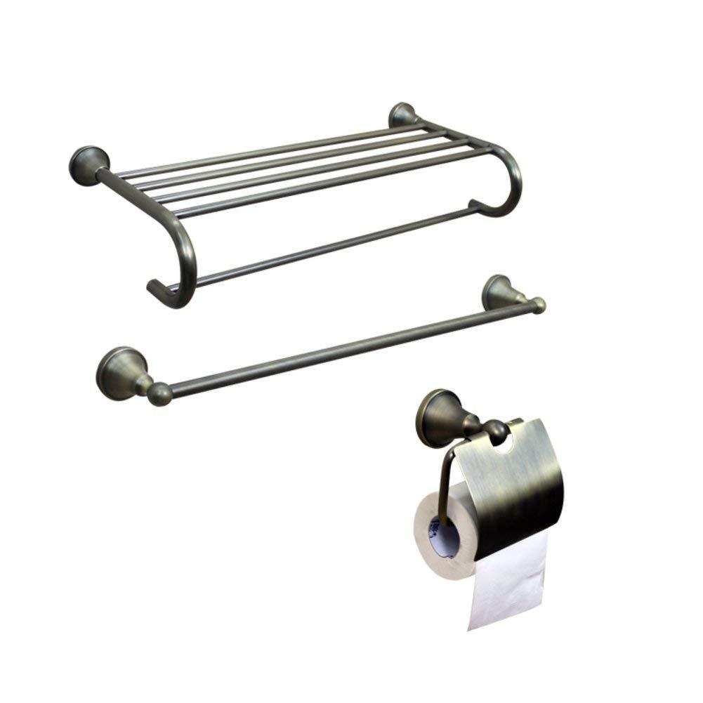 ZZB All Copper Bathroom Accessories/Bronze Towel Rack/Towel Bar/Toilet Paper Holder/Hook/Bathroom Accessories Set-D
