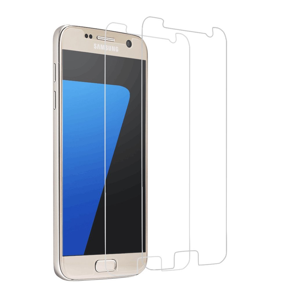 Brightshow Samsung Galaxy S7 Screen Protector Glass, [2-Pack] Samsung Galaxy S7 Tempered Glass Screen Protector with Clear Case