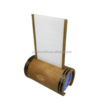 functional cylindrical table tent wooden menu card holder buy