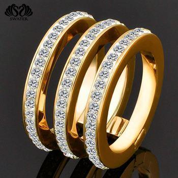 Big 18k Jewelry Beautiful Diamond New Simple Fancy Latest La s