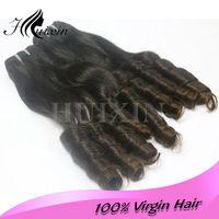 Huixin hair products virgin Brazilian aunty baby curly virgin hair mixed length 3pcs lot Brazilian human hair extensions