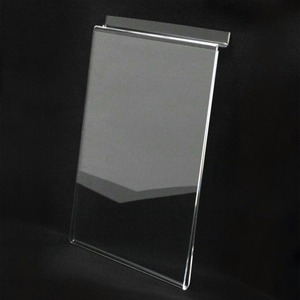 A4 A5 Acrylic Slatwall Poster Holder Sign Holder Plastic Perspex Shop Menu Sign Display for Wall