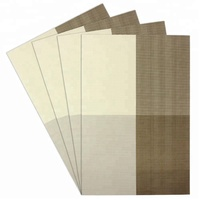 Hot sales Heat Insulation PVC Placemats Stain-resistant Woven Vinyl Table Mats for Kitchen Set