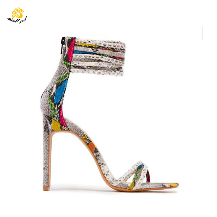 Infinite Stroll Girl L190373 women cross ankle wrap high heel fancy bridal sandalias mujer <strong>sandals</strong> 2019