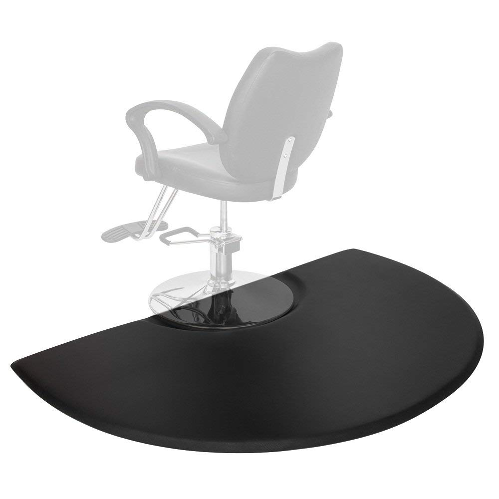 Mefeir 3 ft. x 5 ft. Semi Circl 7/8'' Thick Antifatigue Comfort Standing Salon Floor Mat,Perfect for Beauty Barber Hair Styling Chair, Ergonomically Engineered, Non-Toxic, Non-Slip, Waterproof