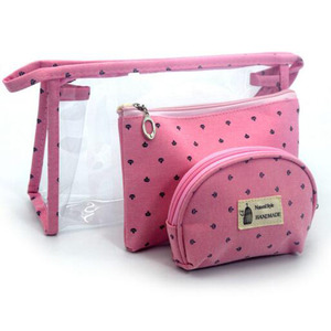 Fashion Design beautiful toiletry bag custom PVC makeup bag new style cosmetic bag set
