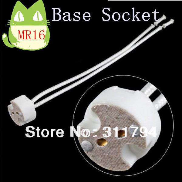 50x wholesale mr16 gu10 gu5 3 base socket lamp holder ceramic wire connector ce rohs free. Black Bedroom Furniture Sets. Home Design Ideas
