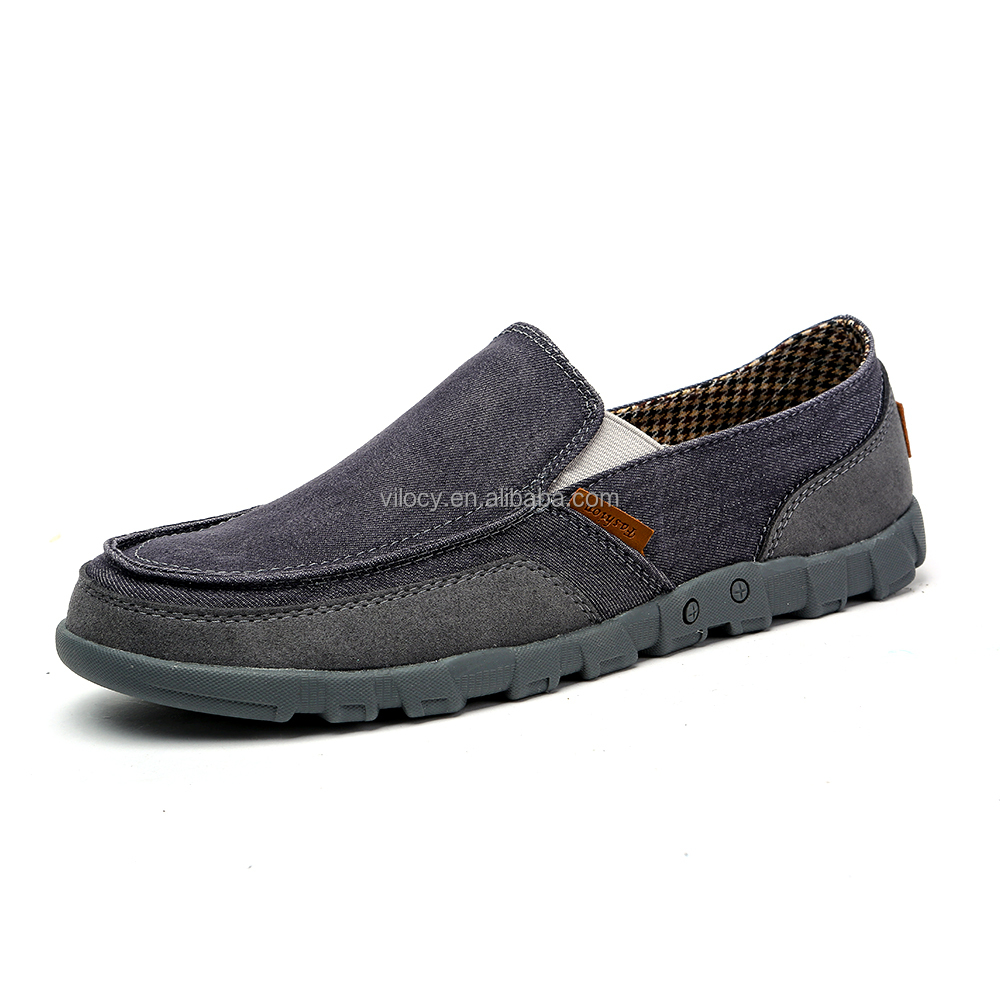 Men's Casual Canvas Lightweight Boat <strong>Shoes</strong> Low Top Slip-On Loafer Flats