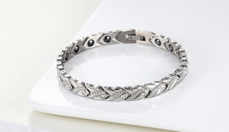 Modalen Customized fashionable stainless steel dubai bio magnetic bracelet 5000 gauss