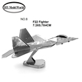 F22 Fighter model 3D puzzle DIY metalic plane model jigsaw free shipping best birthday gift for