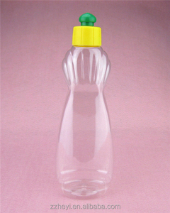 26.1oz 740ml and 14.1oz 400ml clear plastic dish-washing detergent bottle