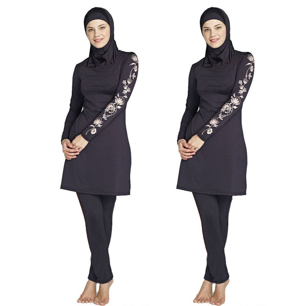 029366ec8920d Get Quotations · Mr Lin123 S-6XL Women Floral Muslim Swimwear Arab Islamic  Swimsuit Women Hijab Muslim swimsuits