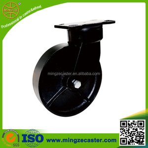 150mm swivel caster wheel, black cast iron wheel, industrial wheel caster