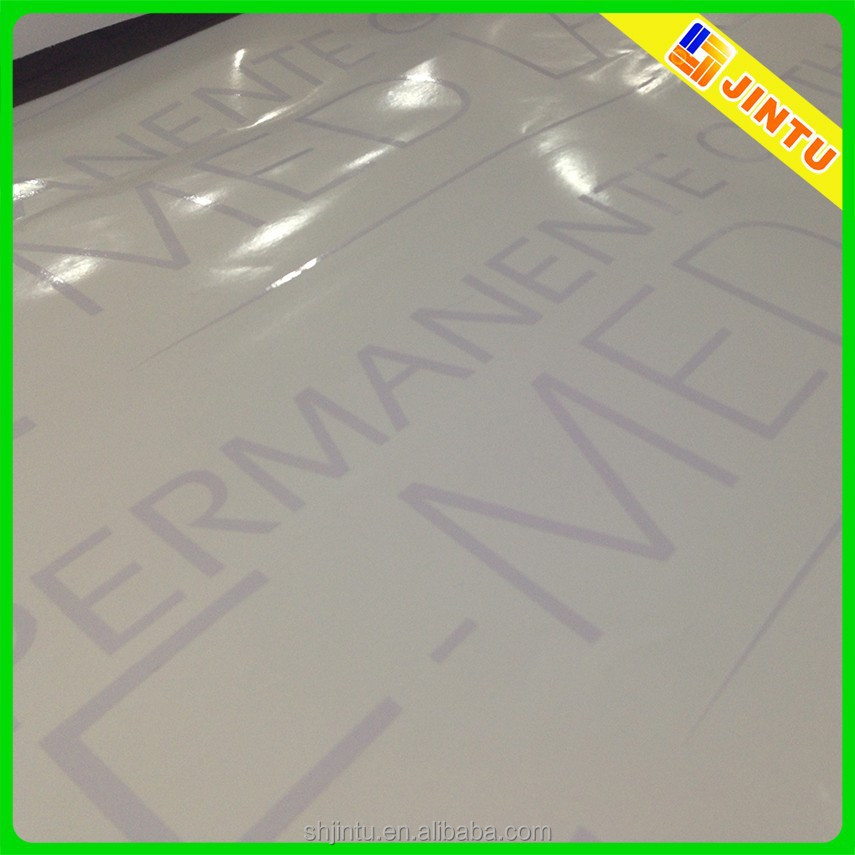 Self-adhesive custom waterproof white vinyl die cut letter sticker